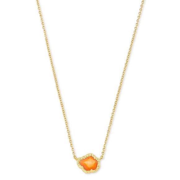 Kendra Scott Tessa Gold Pendant Necklace Orange